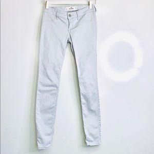 HOLLISTER• Light Grey Jeggings Jeans 24W x 29L 0R